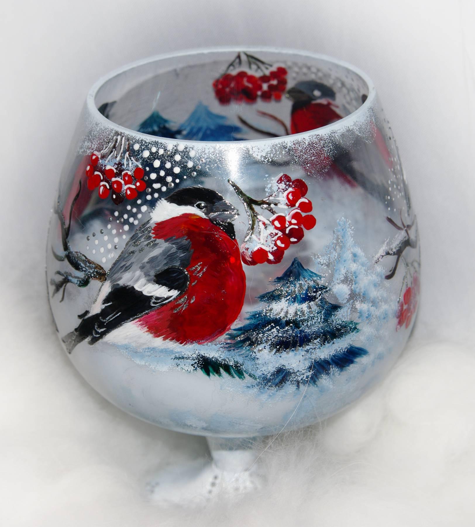 Роспись бокалов новогодних